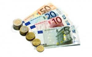 euro money paper and coins